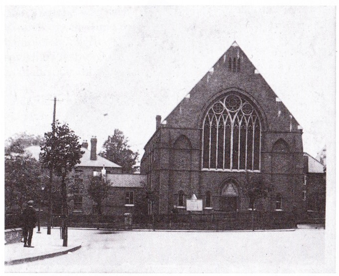 The exterior of the second St George's, built 1901