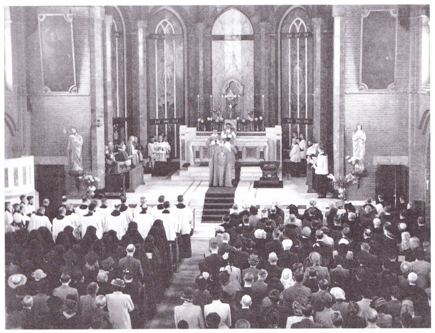 The main altar in the old St George's Church